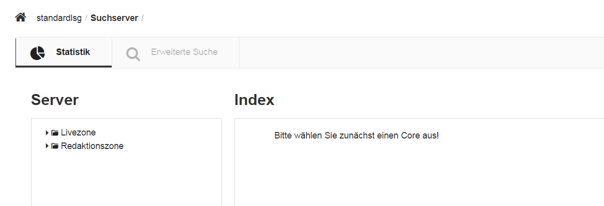 GSB Adminportal Suchserver