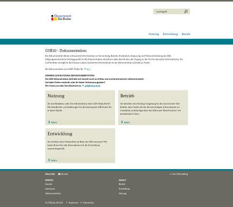 GSB-Dokumentation-Startseite